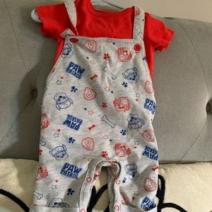 Paw Patrol Overalls and Tee